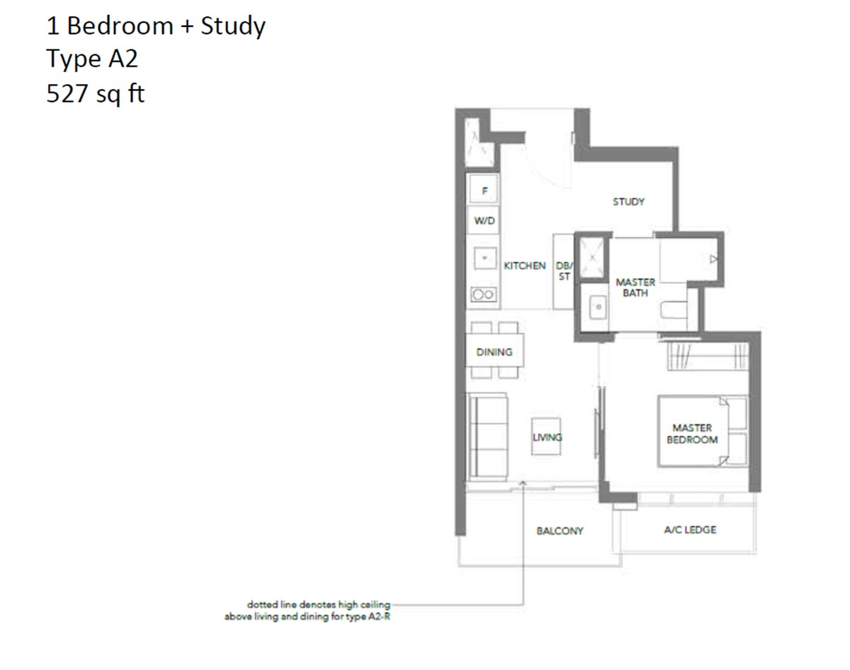 Margaret Ville 1 Bedroom + Study