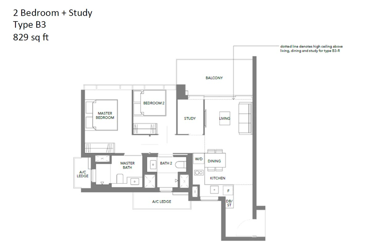 Margaret Ville 2 Bedroom + Study